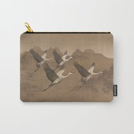 Cranes Flying Over Mongolia Carry-All Pouch