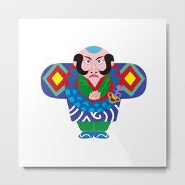 Jpanese traditional kite Metal Print