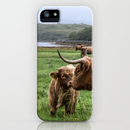 Highland Cow - Mother & Calf iPhone Case