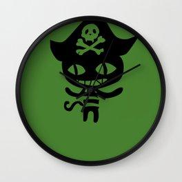 Chloe Pirate Cat Wall Clock