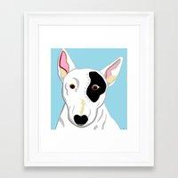 bull terrier Framed Art Prints featuring Bull Terrier by EloiseArt