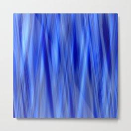 Pattern serie waves 2 blue Metal Print