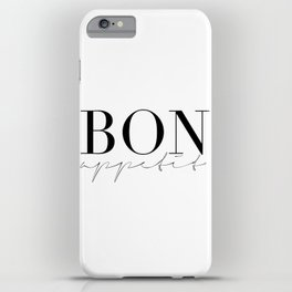 Bon Appetit,french Quote,Kitchen Sign,Kitchen Wall Art,Home Decor,Quote Prints,Typography Print iPhone Case