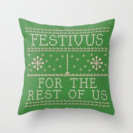 festivus Throw Pillow
