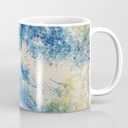 Elated// abstract/ blue/ yellow  Coffee Mug