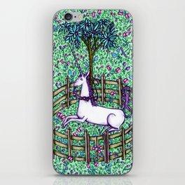 Medieval Unicorn Garden iPhone Skin