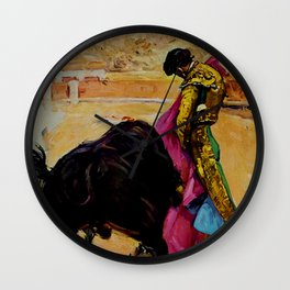 Fiesta de Toros in Spain Travel Wall Clock