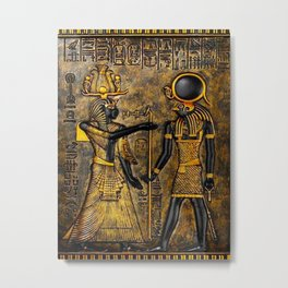 Egyptian Gods Metal Print