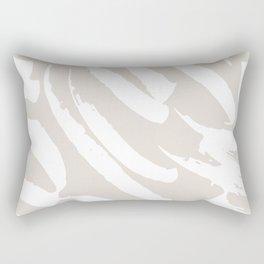 Neutral Brush Strokes Rectangular Pillow