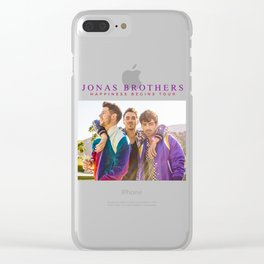 jonas brothers happiness tour 2019 nontongame Clear iPhone Case