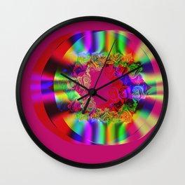 Pink rings Wall Clock