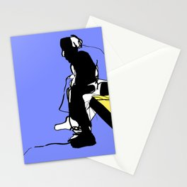 Man overthinking Stationery Cards