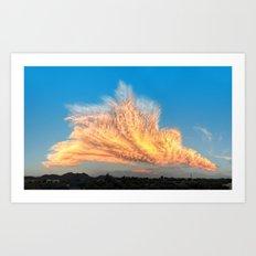 Arizona Monsoon Fire in the Sky Art Print