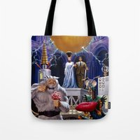 princess bride Tote Bags featuring Bride of the Castle by Hescox
