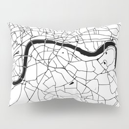 London Minimal Map Pillow Sham
