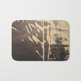 Ink drawing - edges of two abstract prints Bath Mat