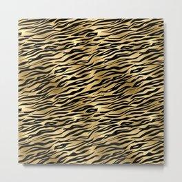 Light Gold and black metal tiger skin Metal Print