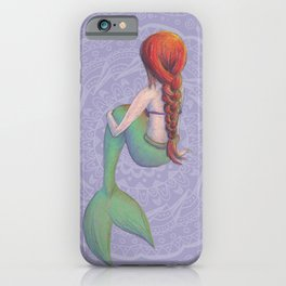Red Haired Mermaid iPhone Case