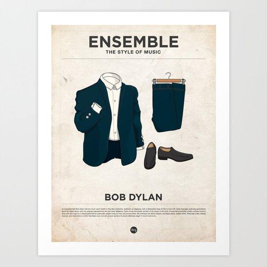 Ensemble - Bob Dylan Art Print