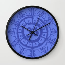 Ohm Mandala - Blue Wall Clock