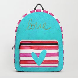 Soulmates Lines and Hearts Backpack