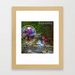 Fishing from another Dimension Framed Art Print
