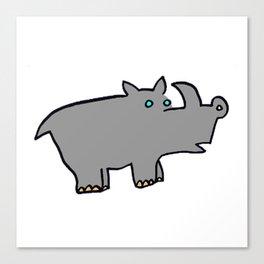 Rhino Zoo Canvas Print