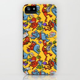 Monsters reading iPhone Case