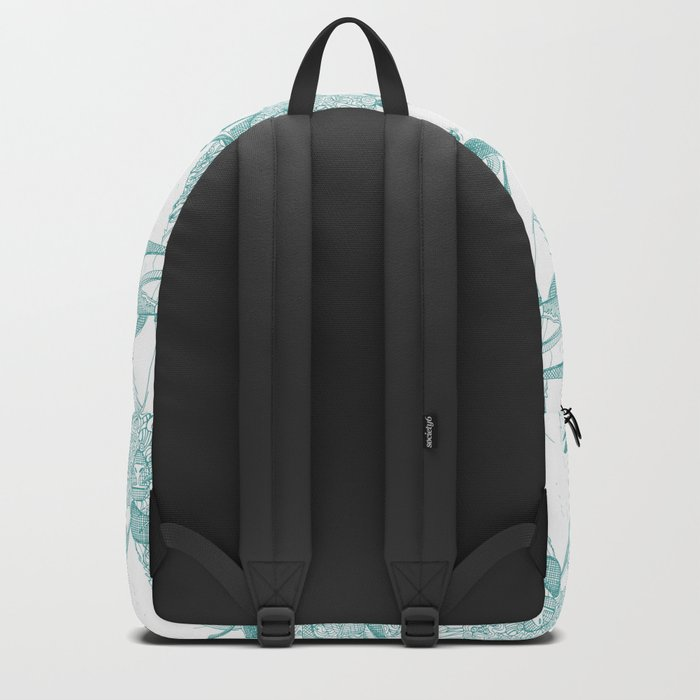 just goats teal Backpack