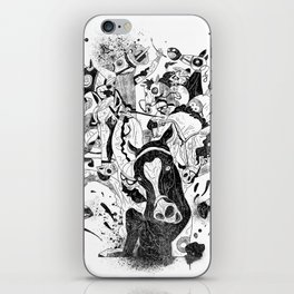 The Great Horse Race! B&W Edition iPhone Skin