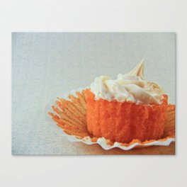 Dreamsicle Cupcake Canvas Print