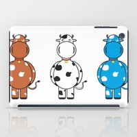 cows iPad Cases featuring COWS by thestalewhale
