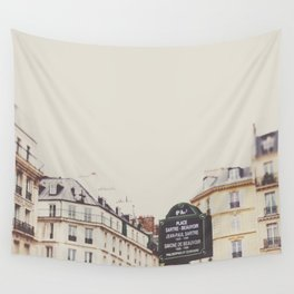 Place Sartre Beauvoir Wall Tapestry