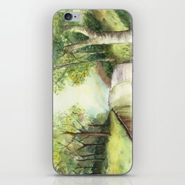 Trees by the canal iPhone Skin