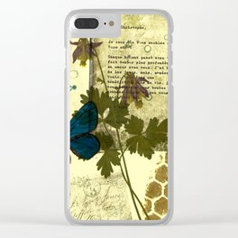 Columbine Love Letters Clear iPhone Case