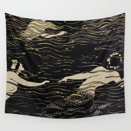 Mermaid illustration from The Craftsman - 1906-1907 Wall Tapestry