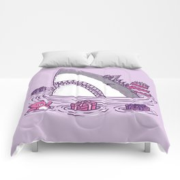 Birthday Princess Shark Comforters
