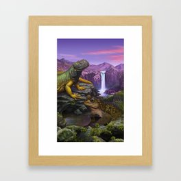 Cold blooded Framed Art Print