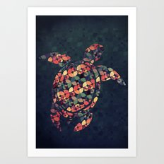 The Pattern Tortoise Art Print