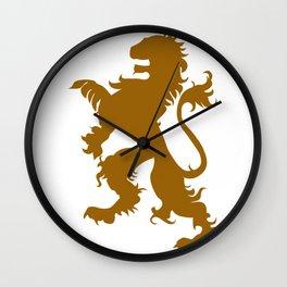 Retro Lion Artwork Wall Clock