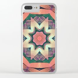 Pattern of Ribbons and Star Clear iPhone Case