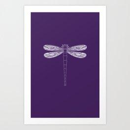 dragonfly in acai Art Print
