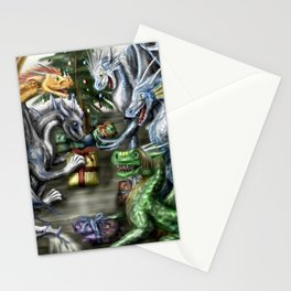Holiday Christmas Gift Dragon Stationery Cards