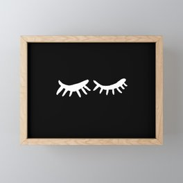 Closed Eyes MINIMAL II Framed Mini Art Print