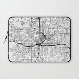 Atlanta Map, USA - Black and White Laptop Sleeve