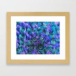 Blue Sea of Swirls Framed Art Print