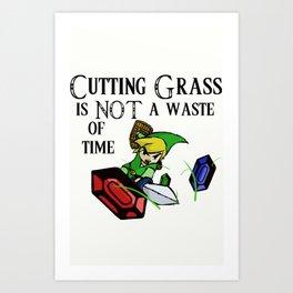 Cutting Grass is NOT a waste of time: Legend of Zelda Wind Waker Art Print