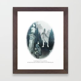 Behind You 62: Postman Framed Art Print