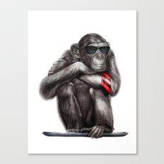Genius Ape Canvas Print