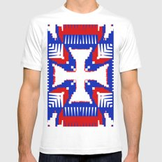 Colors of a Nation White MEDIUM Mens Fitted Tee